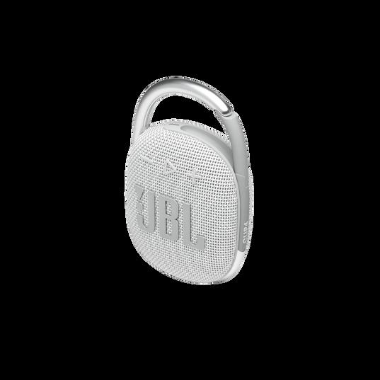 JBL CLIP 4 - White - Ultra-portable Waterproof Speaker - Detailshot 2
