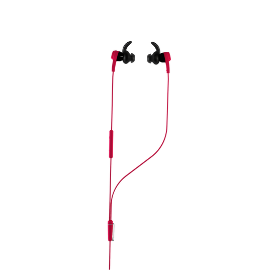 Synchros Reflect-I - Red - Workout-ready, in-ear sport headphones for iOS devices - Hero
