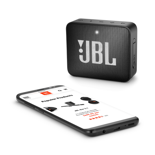 JBL GO 2 - Black - Portable Bluetooth speaker - Detailshot 3