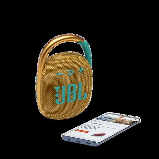 JBL CLIP 4 - Yellow - Ultra-portable Waterproof Speaker - Detailshot 1