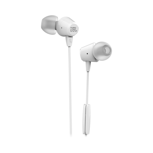 JBL C50HI - White - In-Ear Headphones - Hero
