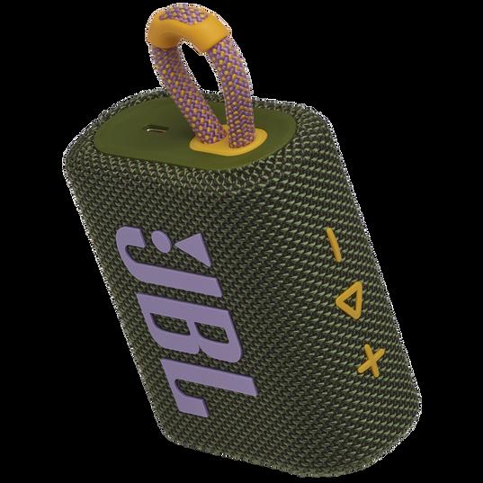 JBL Go 3 - Green - Portable Waterproof Speaker - Detailshot 2