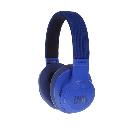 JBL E55BT - Blue - Wireless over-ear headphones - Detailshot 15