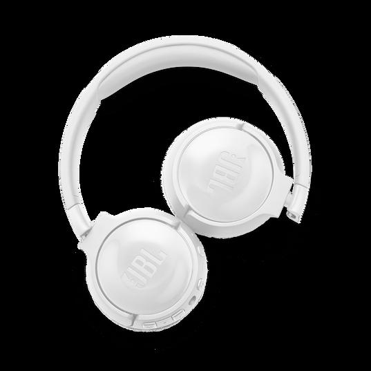 JBL TUNE 600BTNC - White - Wireless, on-ear, active noise-cancelling headphones. - Detailshot 4
