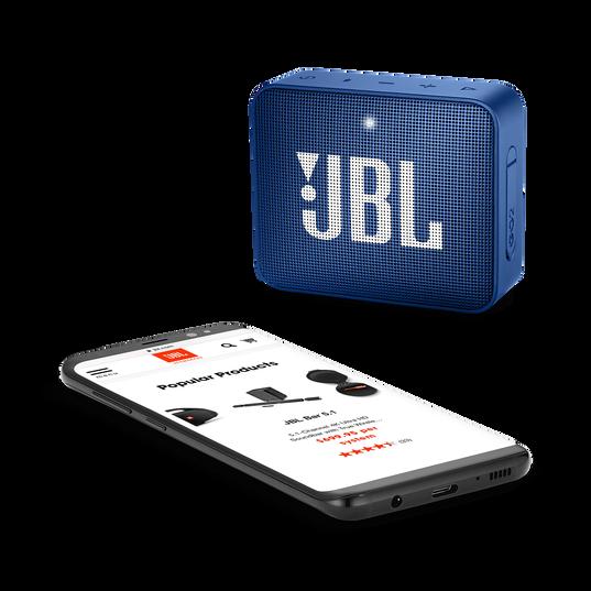 JBL GO 2 - Blue - Portable Bluetooth speaker - Detailshot 3