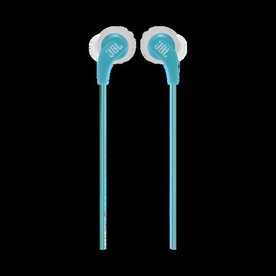 JBL Endurance RUN - Teal - Sweatproof Wired Sport In-Ear Headphones - Front