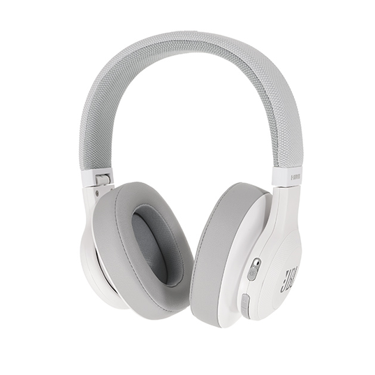JBL E55BT - White - Wireless over-ear headphones - Detailshot 15