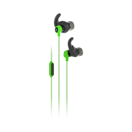 Reflect Mini - Green - Lightweight, in-ear sport headphones - Hero