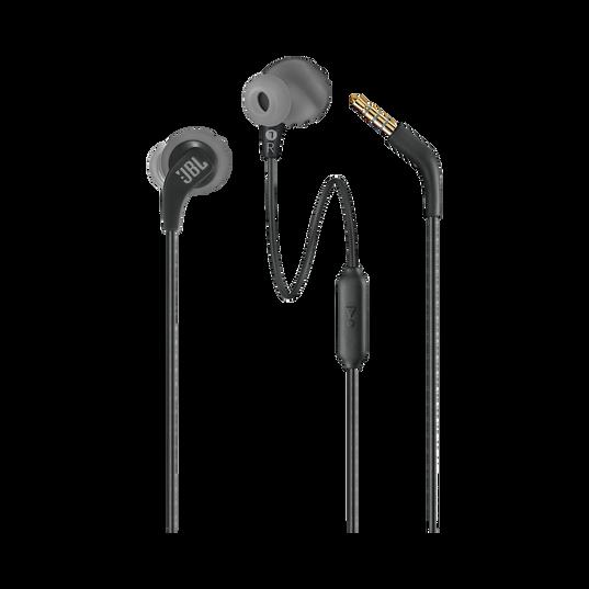 JBL Endurance RUN - Black - Sweatproof Wired Sport In-Ear Headphones - Detailshot 1